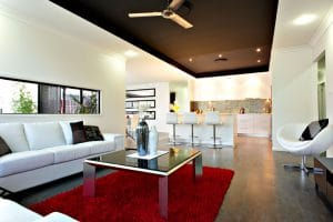 Living room — Houses Firm in Kerrisdale, QLD